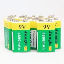 20 pces bateria de lítio recarregável de alta capacidade usb 9v 4800mah li-ion bateria de lítio usb para brinquedo controle remoto dropshipping