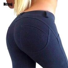 Nessaj 2020 moda boa qualidade baixa cintura elástica leggings push up calças femininas sexy hip magro em estiramento de algodão leggings