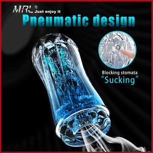Image 1 - MRL Male Masturbator Cup Soft Pussy Sex Toys Transparent Vagina Adult Endurance Exercise Sex Products Vacuum Pocket Cup for Men