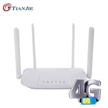 4G Wifi Router VPN Modem 4g WIFI Sim Card Hotspot CPE 4 Antenna 32 Users VOLTE WAN LAN Wireless Routers LTE Dongle Modify IMEI