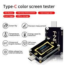 FNC88 Typ C PD trigger USB C Voltmeter amperemeter spannung 2 weg current meter multimeter PD ladegerät batterie USB Tester