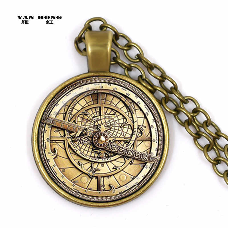 Steampunk Gravity Falls Mysteries BILL CIPHER WHEEL Necklace doctor who Glass mens astrolabe women best friends Pendant HZ1