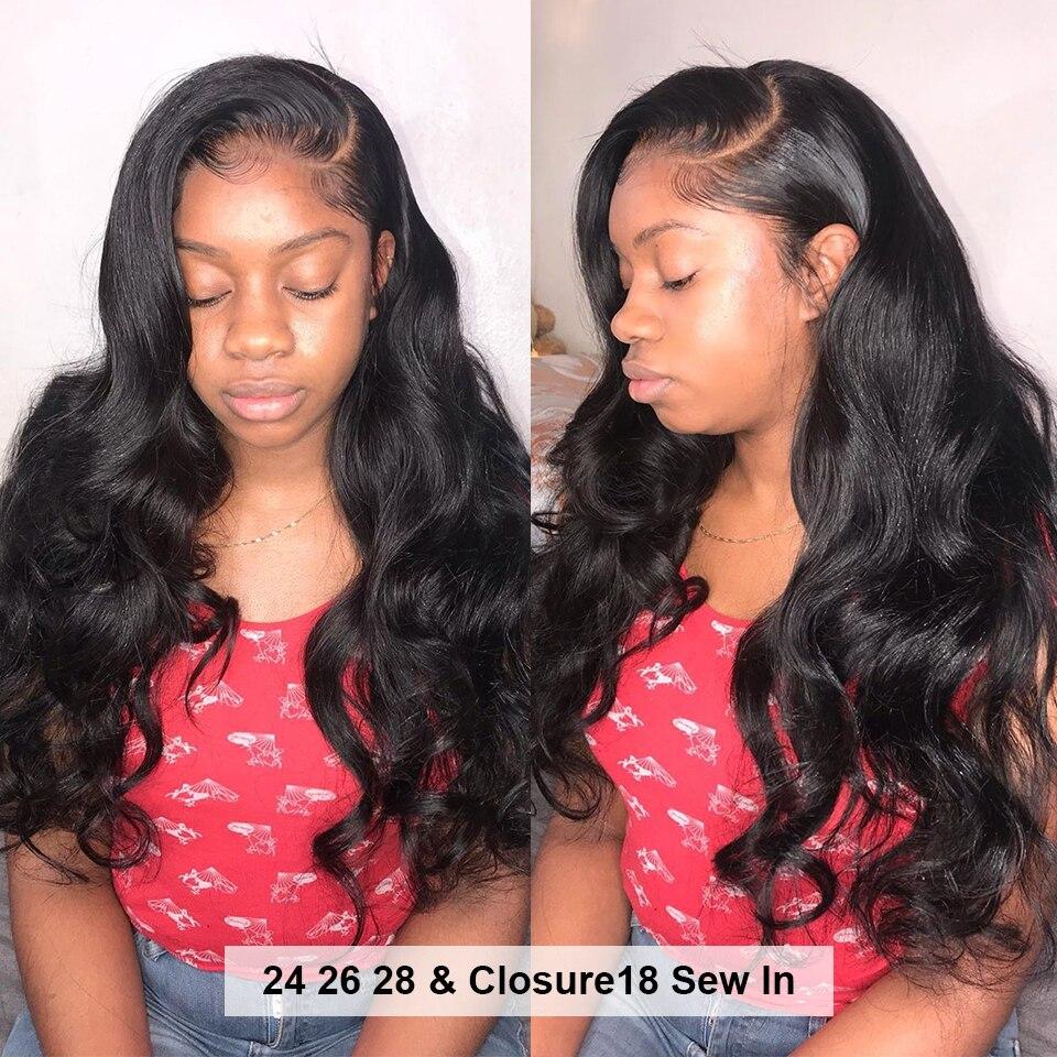 HJ Weave Beauty Body Wave Human Hair Bundles With Closure 8 30 32 34 38inch 7A HJ Weave Beauty Body Wave Human Hair Bundles With Closure 8-30 32 34 38inch 7A Virgin Hair Brazilian Hair Weave Bundles