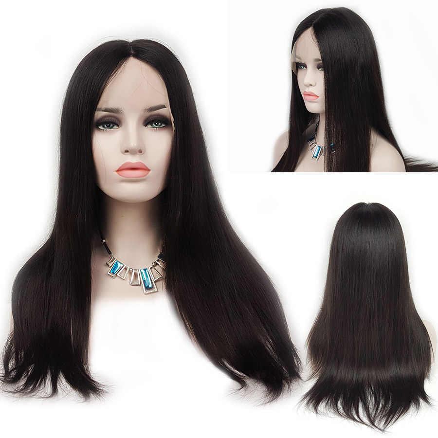 ShowCoco Sommer Jüdische Perücke Frau Menschliche Natürliche Haar Seide Top Reines Menschenhaar Geflochten Gerade Braun Blonde Europäischen Haar Perücken