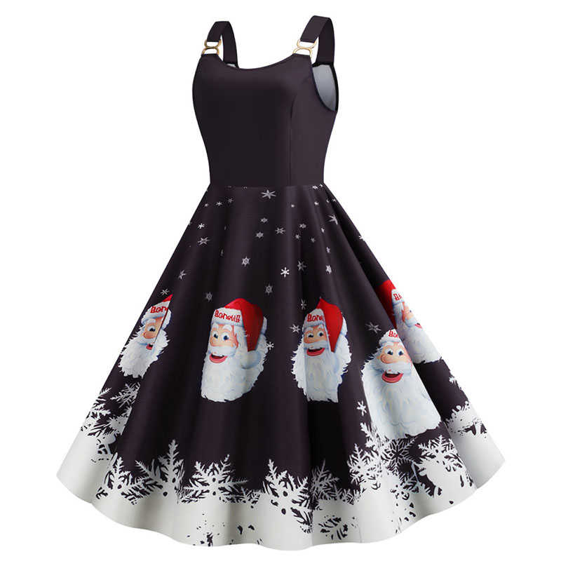 섹시한 스파게티 딸기 크리스마스 드레스 스커트 스커트 여성 스웨터 레트로 프린트 코트 짧은 소매 파자마 파티 드레스