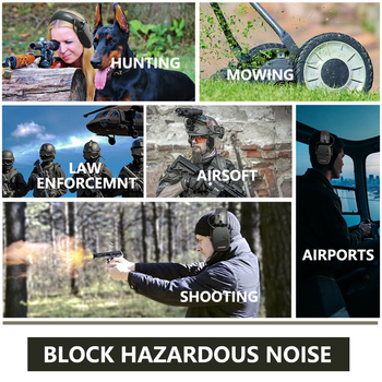 ZOHAN Tactical headphones Ear Protection Shooting Electronic Earmuffs soundproof Hearing Noise Reduction for Hunting NRR22db 6