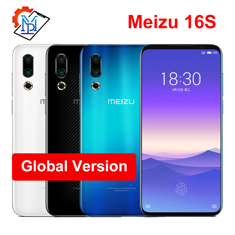 Global Version Meizu 16s 6GB 8GB 128GB 16 S Smart Phone Snapdragon 855 6.15