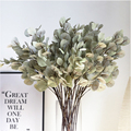 Silk Leaf Eucalyptus Artificial green Leaves For Wedding Decoration DIY Wreath Gift Scrapbooking Craft Apple Plants Fake Flower