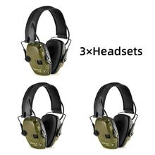 Electronic shooting earmuffs anti-noise shockproof sound amplification tactical hunting hearing protection headphone foldable FG