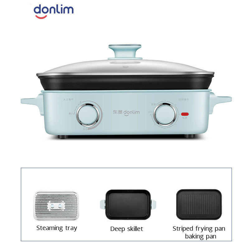 1400W Household Electric Multi Cooker Multifunctional Electric Cooking Pot Steamer Pot Frying Pan Multicooker Pot One Machine