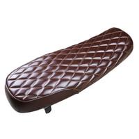 Vintage Flat Brat Styling Motorcycle Seat Cushion, High Quality PU Leather Motorbike Saddle Cover