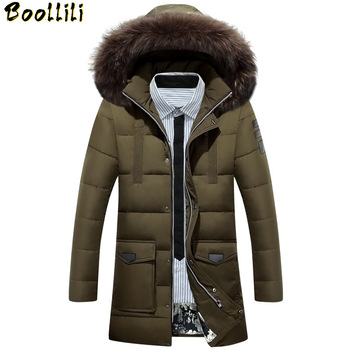 New Down Parka Men Winter Jacket Men's High Quality Hooded Down Coat Thick Long Coat for Male Fur Collar Plus Size 3XL