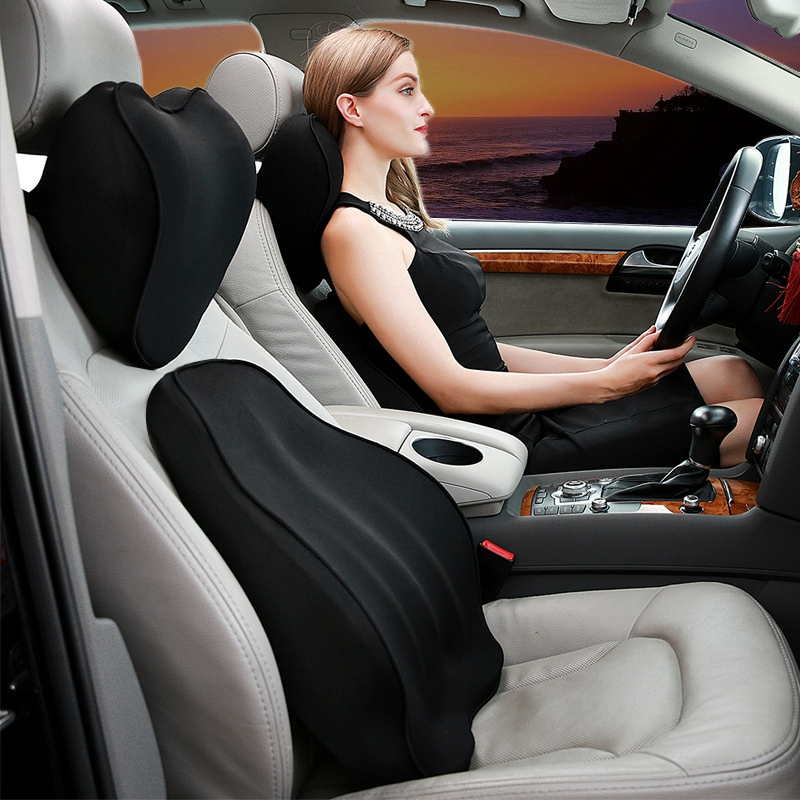 Car Seat Back Cushion Memory Cotton Waist Support Lumbar Cushion for Four Seasons|Automobiles Seat Covers| |  - title=