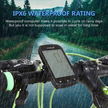 IPX6 Accurate Bike Computer Smart GPS Cycling Computer BT 4.0 ANT+ Bike Wireless Computer Digital Speedometer Backlight