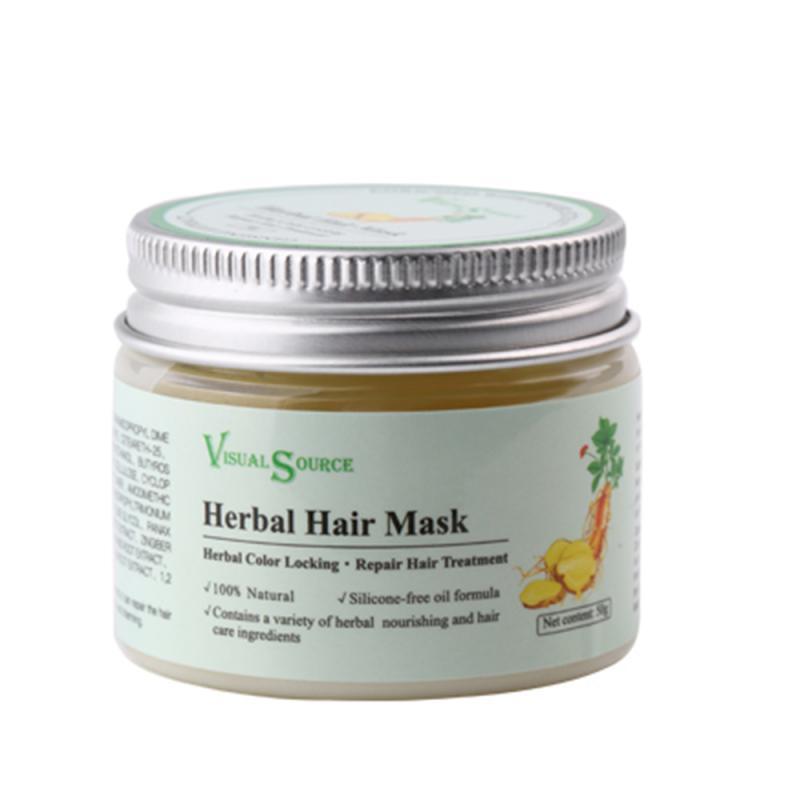 50g Tonic Hair Treatment Herbal Hair Mask Root Hair Ginger Ginseng Polygonum Multiflorum Sinensis Keratin Seconds Repairs TSLM2