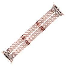 Роскошные женские жемчужные ювелирные Смарт часы с заменой ремешка
