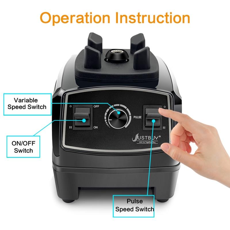 BPA libero 2200W Heavy Duty Commerciale Blender Professionale Miscelatore Frullatore Robot da Cucina Giappone Lama Spremiagrumi Frullato di Ghiaccio Macchina