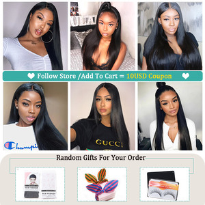 Image 5 - Allove 4x4 Lace Closure Wig Straight Human Hair Wigs For Black Women 150% Brazilian Lace Front Human Hair Wigs Pre Plucked