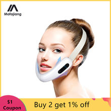 V Face Massager Red LED Light Therapy EMS Facial Lifting Device Face Slimming Double Chin Reducer Anti Aging Belt Jaw Exerciser
