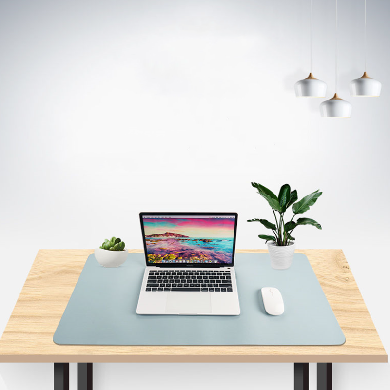 Double-side Portable <font><b>Large</b></font> <font><b>Mouse</b></font> <font><b>Pad</b></font> Gamer Waterproof PU Leather Suede Desk Mat Computer Mousepad Keyboard Table Cover for Dota image