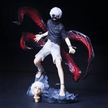 Anime Tokyo Ghoul Kaneki Ken PVC Action Figure Collectible Model doll toy 22cm anime tokyo ghoul figure toys mask ken kaneki melanism pvc action figure collection model toy gift