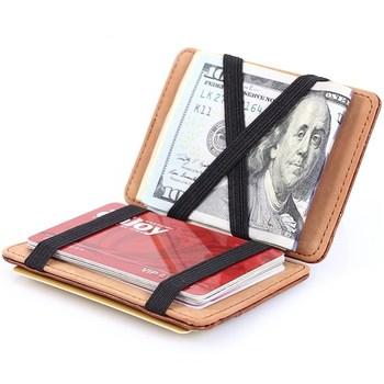 Fashion Men Slim Wallet Male Ultra thin Short Men Magic Card Holder Wallet Money Card Holder Solid Purse недорого