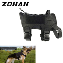 ZOHAN Military Tactical Dog Vest Breathable dog clothes harness adjustable size Training Hunting Molle Dog Vest Harness