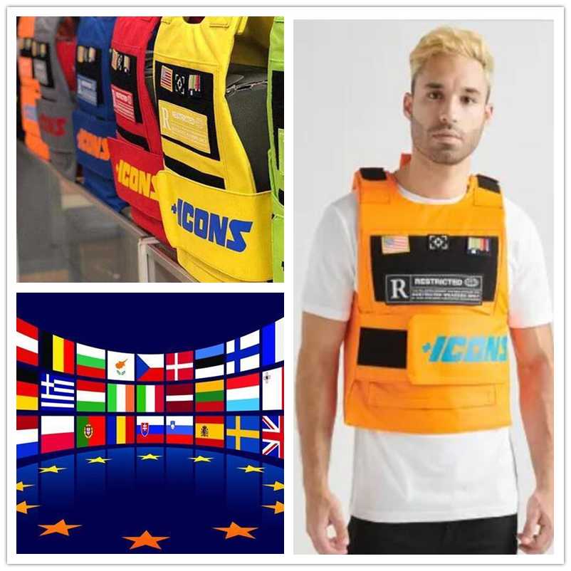 Bulletproof Vests Hiphop MC VEST RAPPER BAR TANK TOP Fashion New Design Top Street Fashion Icons Us Flag