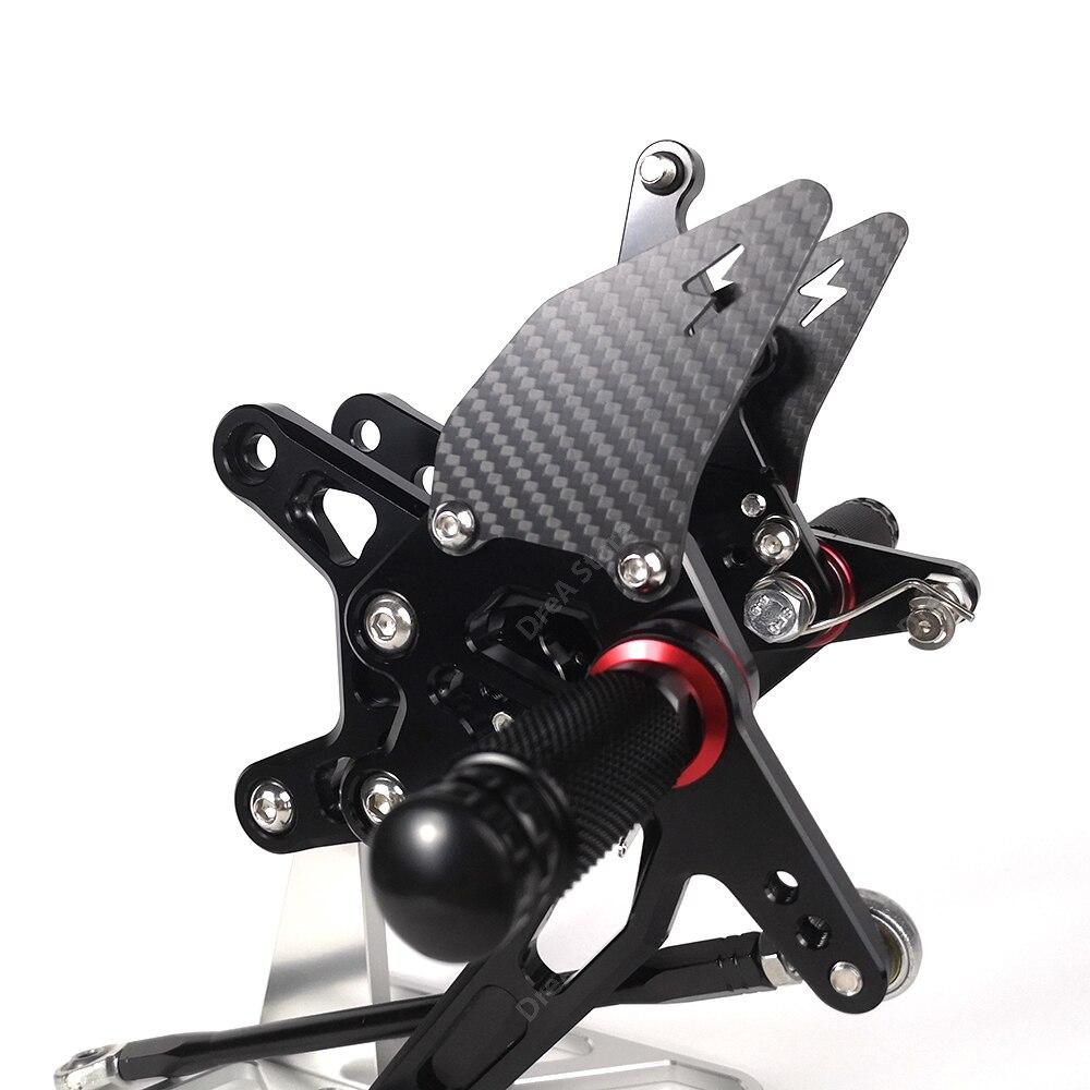 Купить zx6r zx 6r подставка для ног мотоцикла регулируемая педаль с