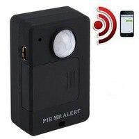 Mini pir sensor de alerta infravermelho sem fio gsm alarme monitor detector de movimento detecção casa sistema anti-roubo com adaptador de plugue da ue