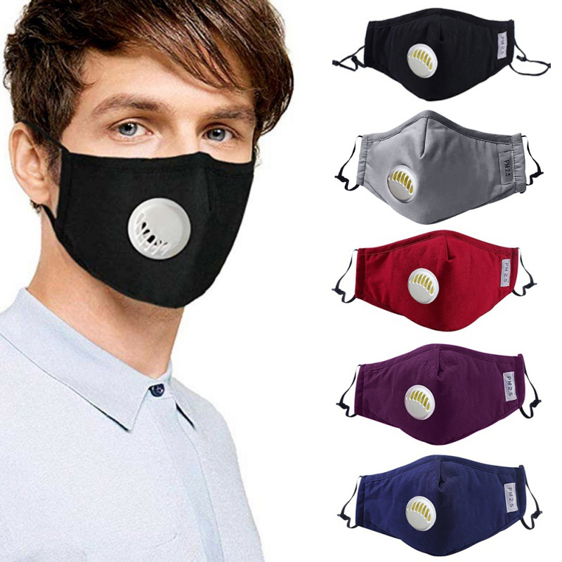 Safety Dust Mask+2 Filters Easy Breathe Reusable Washable Face Mask Anti Pollution Outdoor Sports Gardening Travel PM2.5 Mask