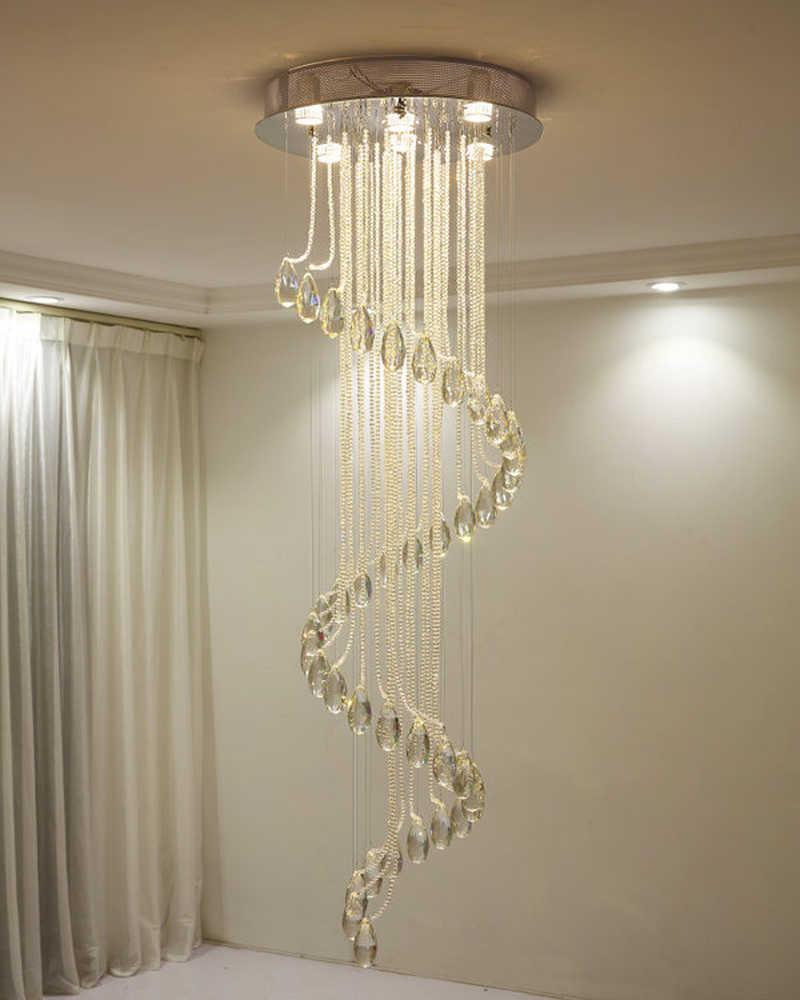 Modern Style Large Crystal Chandelier