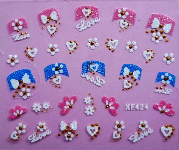 XF Nail Sticker 3D Nail Sticker Lace Nail Sticker Thousands-Selectable Recruit Agents XF424