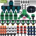 Автоматическая система полива капельного орошения KESLA  5 м-50 м  набор для полива сада  DIY  автоматический распылитель  капельный спринклер для...