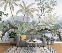 Niestandardowa tapeta Beibehang zdjęcie high-end europejska retro nostalgiczne rainforest mural tle dekoracyjna tapeta do domu 3d tapety