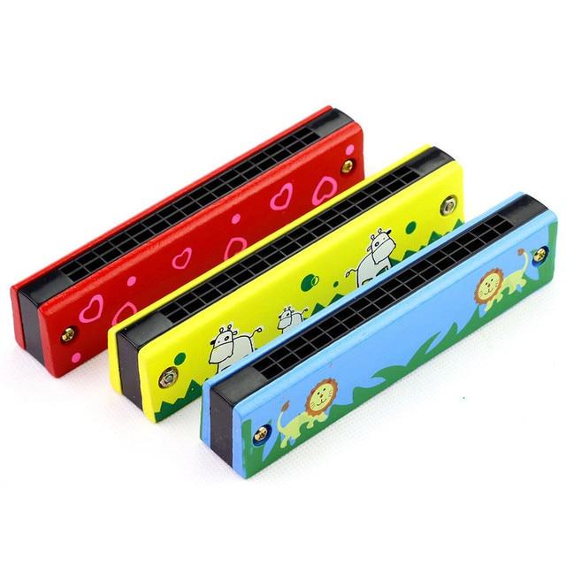 16 Holes Cute Harmonica Musical instrument Montessori Educational Toys Cartoon Pattern Kids Wind Instrument Children Gift Kids 2