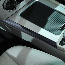 Car Styling for Mercedes Benz GLK X204 Stainless Steel Console Water Cup Holder multimedia Side Frame Auto Covers Stickers Trim