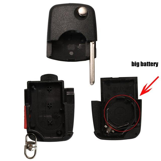 Jinyuqin 4 boutons clé de voiture Switchblade clé clé à rabat coque pour VW Passat Beelte Golf VOLKSWAGEN siège Skoda porte-clés étui