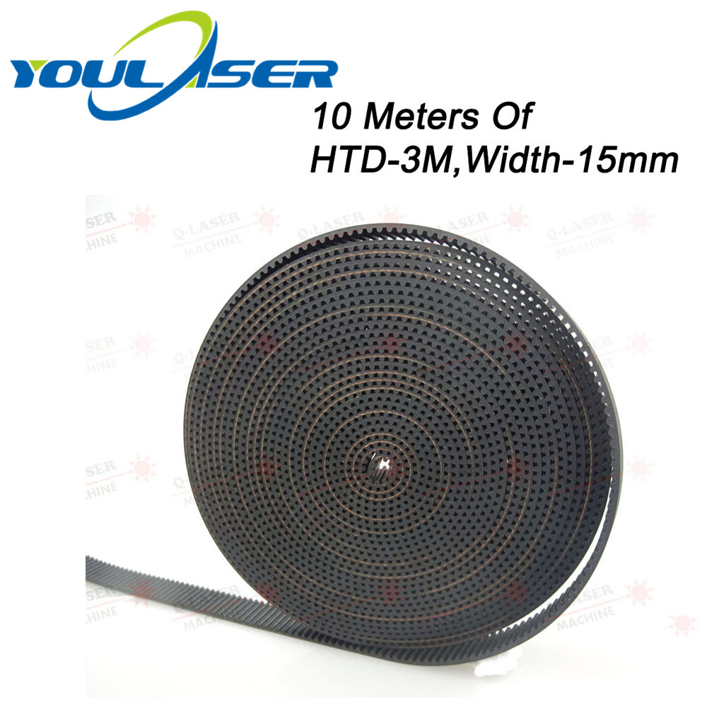 10Meters HTD-3M-15mm PU Open Belt 3M Timing Belt Polyurethane For CO2 Laser Engraving Cutting Machine