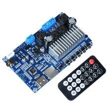 2*50W TPA3116 scheda amplificatore Audio di potenza digitale Bluetooth 5.0 Stereo TPA3116D2 FM decodifica USB amplificatori di classe D remoti