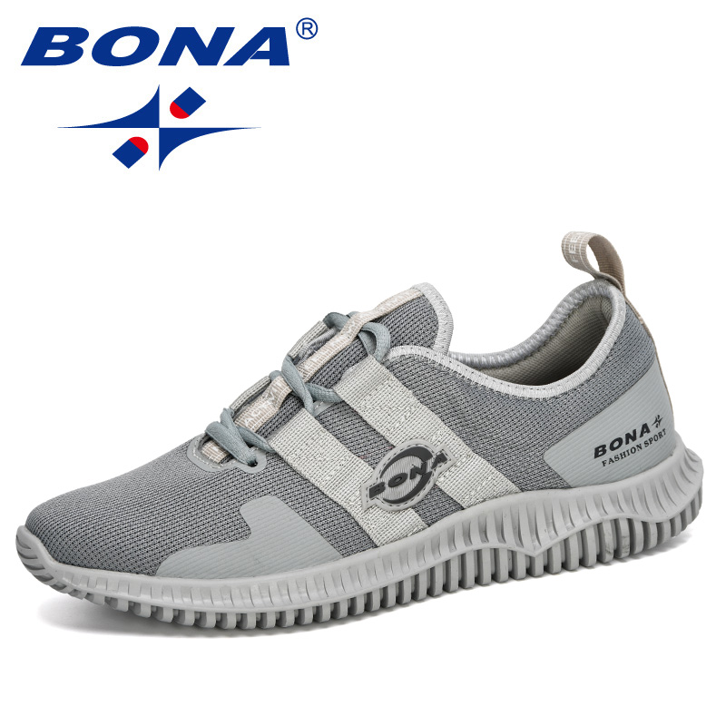 BONA 2020 New  Designers Fashion Style Outdoor Breathable Jogging Shoes Men Lightweight Sneakers Man Adult Leisure Footwear