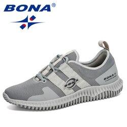 BONA 2020 nowi projektanci Fashion Style Outdoor oddychające buty do joggingu mężczyźni lekkie buty sportowe Man Adult Leisure obuwie|Męskie nieformalne buty|   -