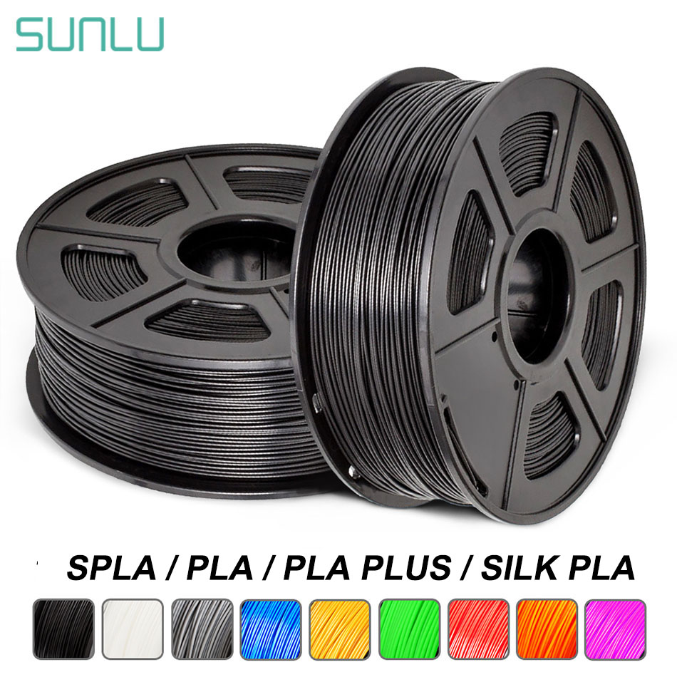 SUNLU PLA בתוספת 3D מדפסת נימה 1.75mm 1KG עם סליל SPLA משי PLA 3D נימה קשת S PLA הדפסת חומר