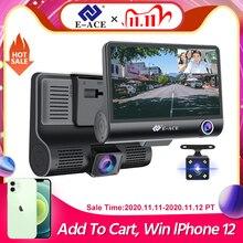 E ACE Auto Dvr 3 Camera Lens 4.0 Inch Dash Camera Dual Lens Suppor Achteruitrijcamera Video Recorder Auto Registrator Dvr dash Cam