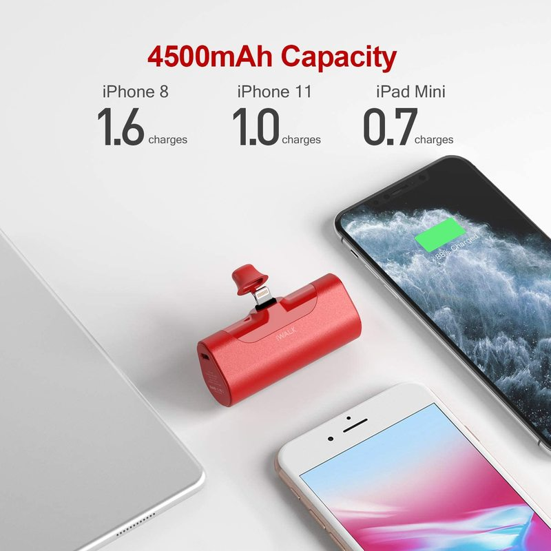 IWALK Mini Power Bank 4500mAh Travel Portable Charger Business Type-C Lightning Cute Powerbank for Xiami Iphone Bateria Portatil