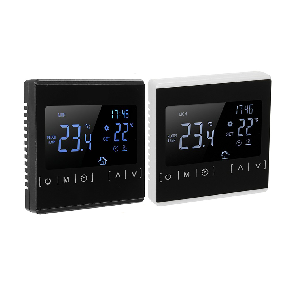 LCD Touch Screen Warm Floor Heating Room Thermostat AC85-240V Water Heating Temperature Controller