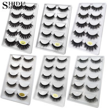 5 Pairs Multipack 3D Mink Wimpers Valse Wimpers Handgemaakte Piekerige Pluizige Lange Wimpers Natural Eye Makeup Tools Faux Wimpers g800(China)