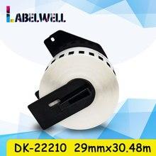 Label DK-2210 QL-570 White Compatible for Dk-22210/Dk-2210/Dk/.. 29mm--30.48m 1roll