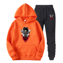 Colored puppy Pocket Hoodie Men Funny Goku Print Hoodies Male Pullovers Sweatshirt Women Oversize Outerwe Mens