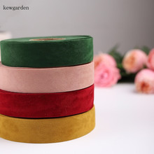 Kewgarden Suede Ribbon 1 1.5 5/8 16mm 25mm 40mm DIY Bowknot Accessories Satin Handmade Tape Riband Webbing 10 Yards